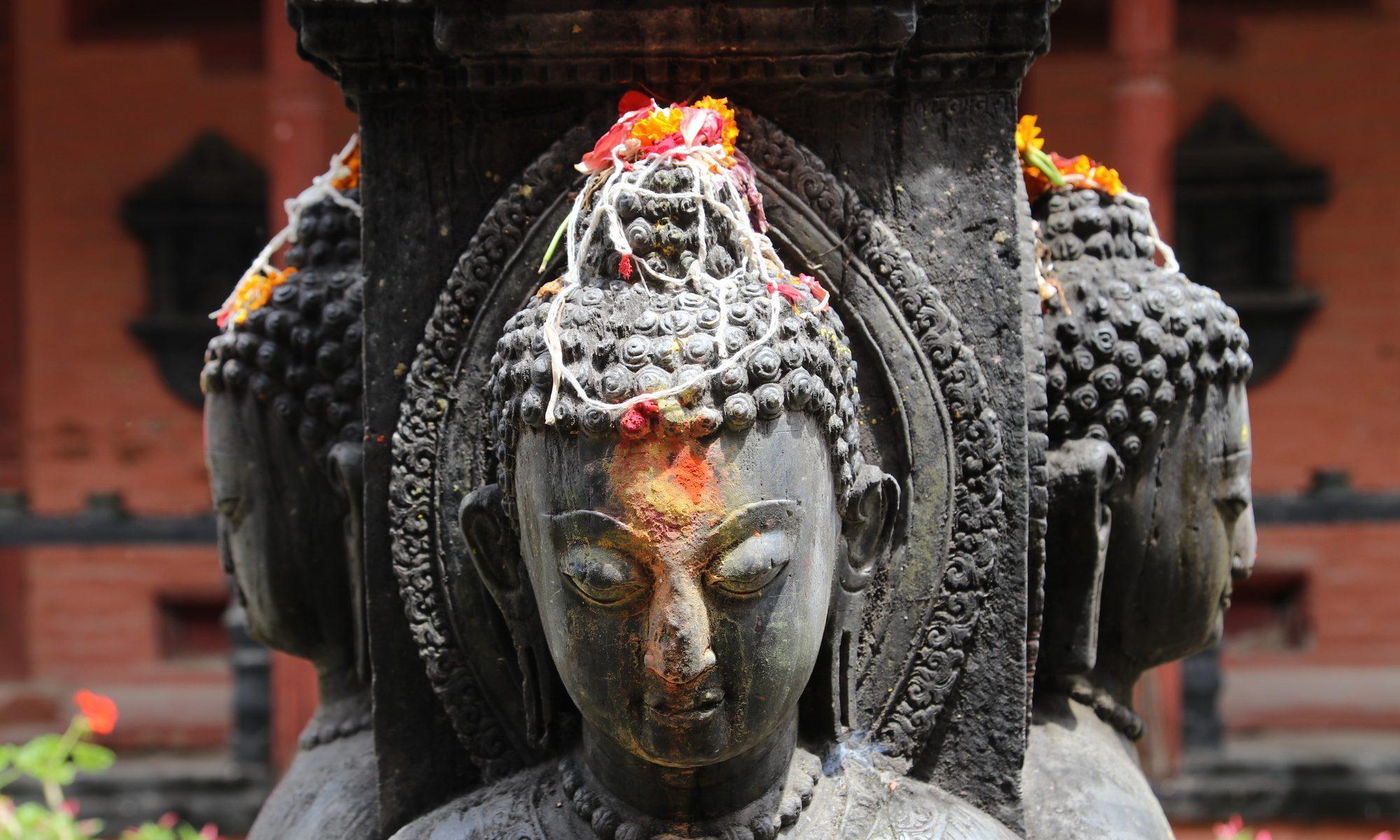 Buddha Statue in Itum Bahal
