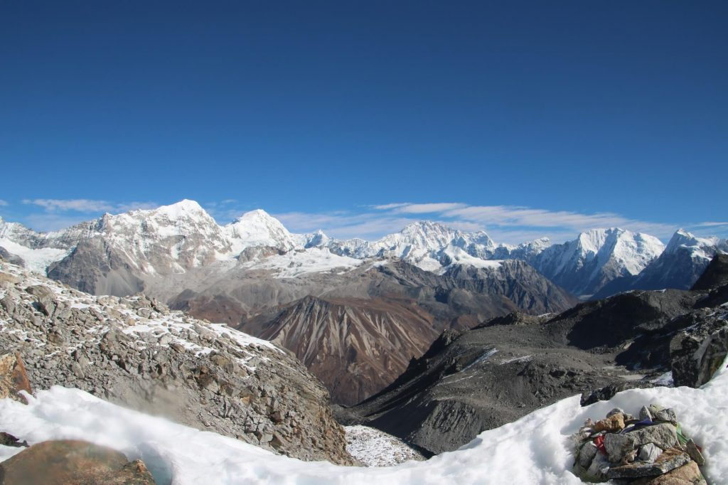 View from Ganja La Pass