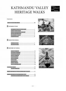 Kathmandu Valley Heritage Walk Table of Contents Page 1