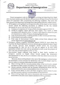 Official document from Nepal Immigration stating Visa on Arrival is available