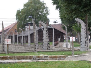 Electric fence at Auschwitz Prison