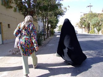 Iranian Woman and Tourist