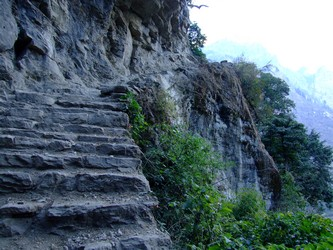 Steps on a Nepal trek