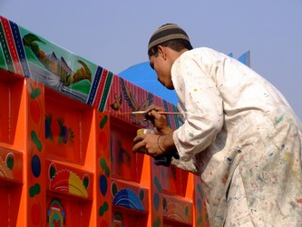 Pakistani Bus Painter