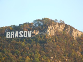 Brasov's giant hollywood sign