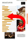 full table of contents for the Bhaktapur guidebook