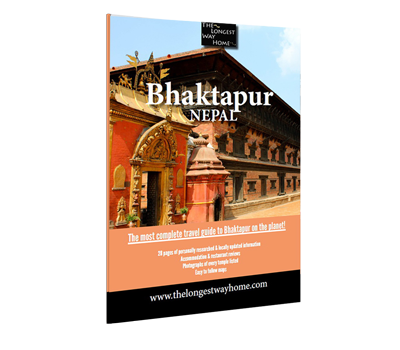 Cover of the Bhaktapur city guidebook