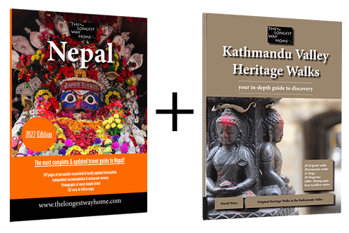 Nepal guidebook with Kathmandu Valley Heritage Walk book