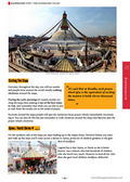 Guide book page from the Kathmandu City Guidebook