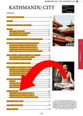 full table of contents for the Kathmandu city guidebook
