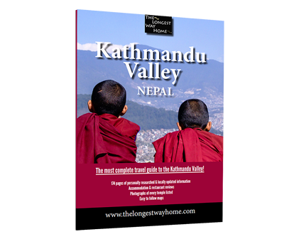 Cover of the Kathmandu city guidebook