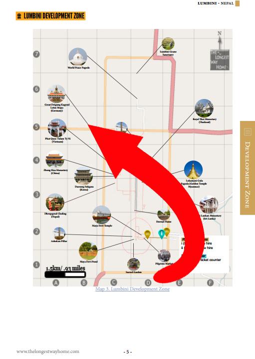 Map showing all of Lumbini's development area