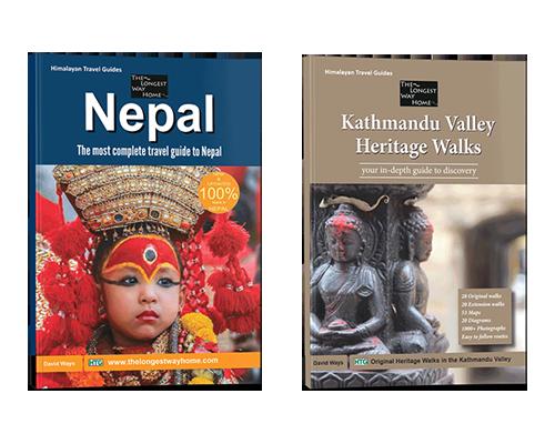 Print editions of the Nepal Guidebook and Kathmandu Valley Heritage Walks Book