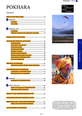 full table of contents for the Pokhara guidebook
