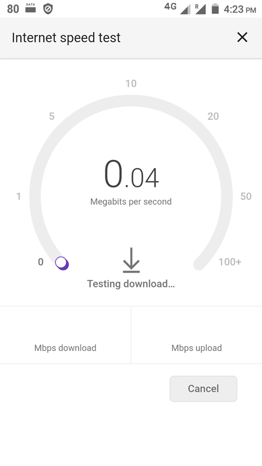 Mobile speedtest screenshot from Nepal